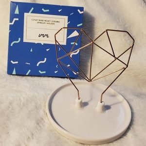 Imm Living Coxet Wire Heart Ceramic Jewelry Holder